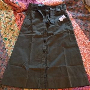 GAP midii tie front high waisted skirt.